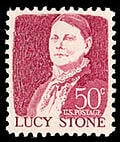 Lucy Stone on 50-cent postage stamp