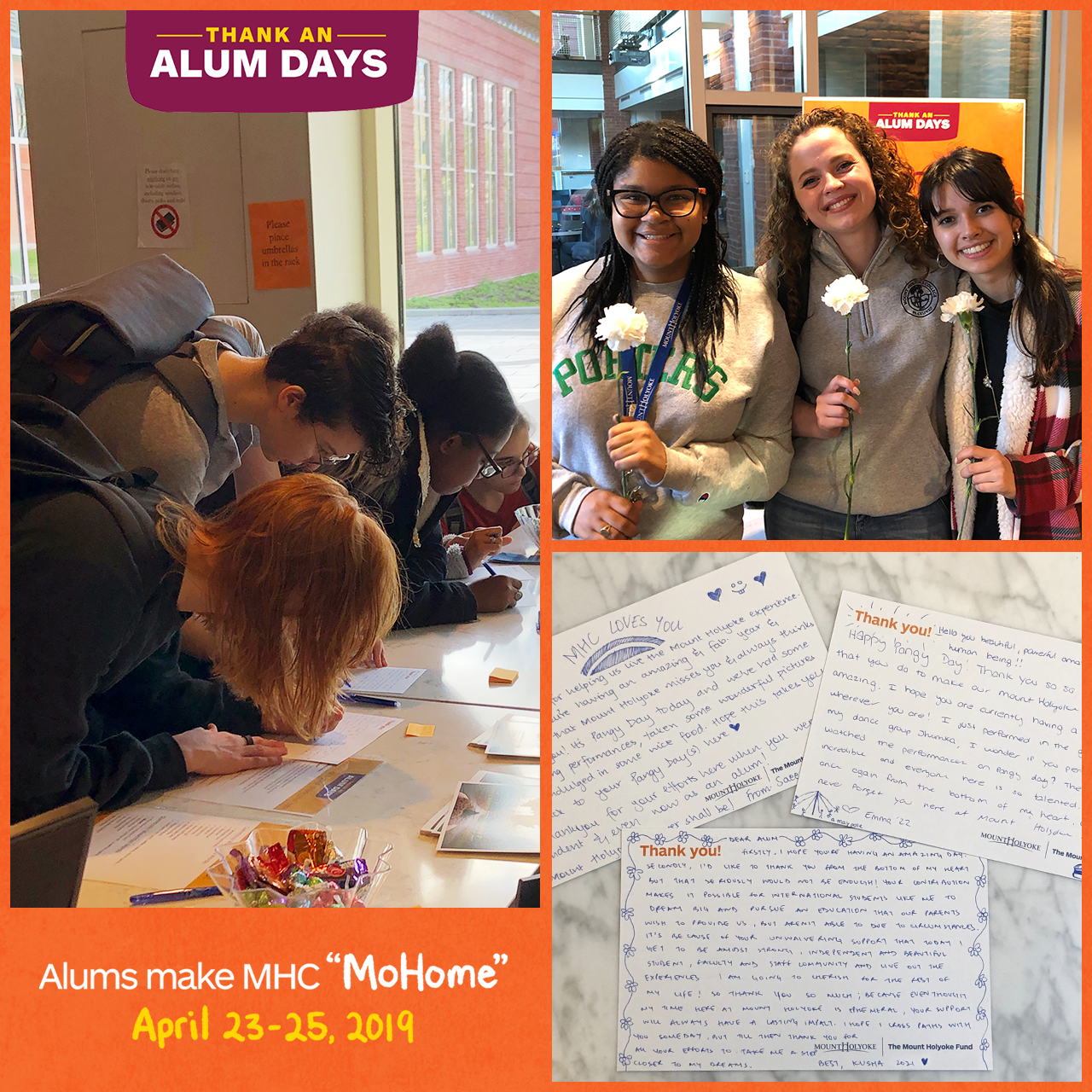 Photo collage from Thank An Alum Days 2019