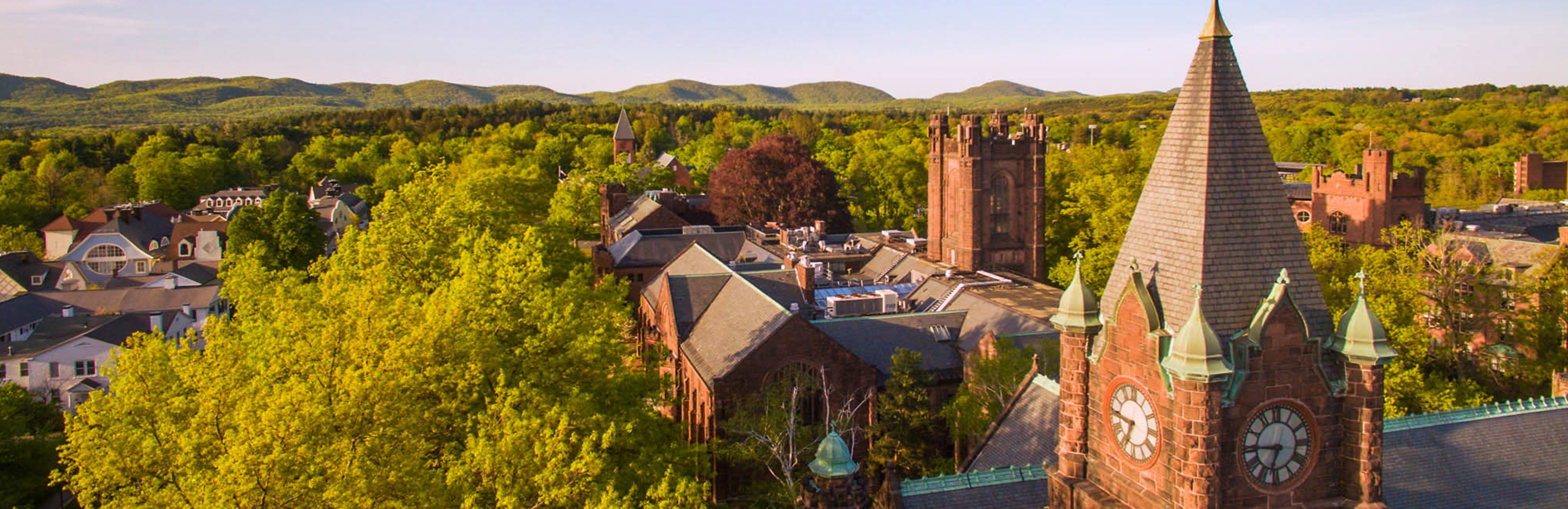 Aerial view of Mount Holyoke College