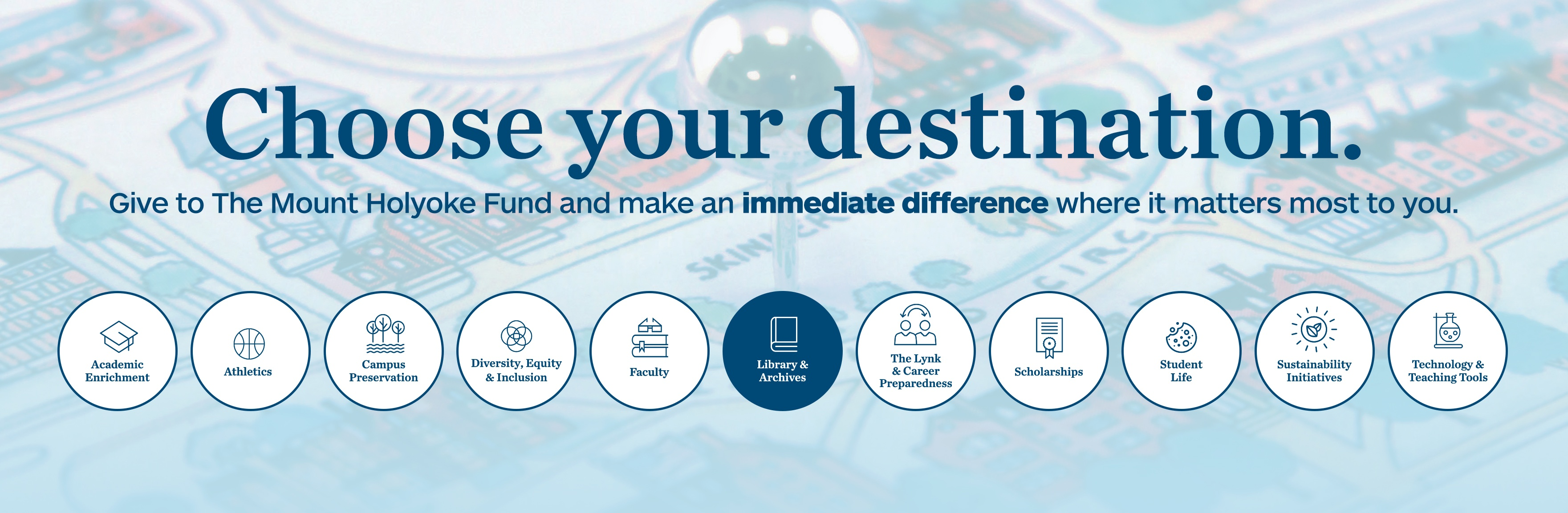 Choose a destination. Choose Library and Archives.