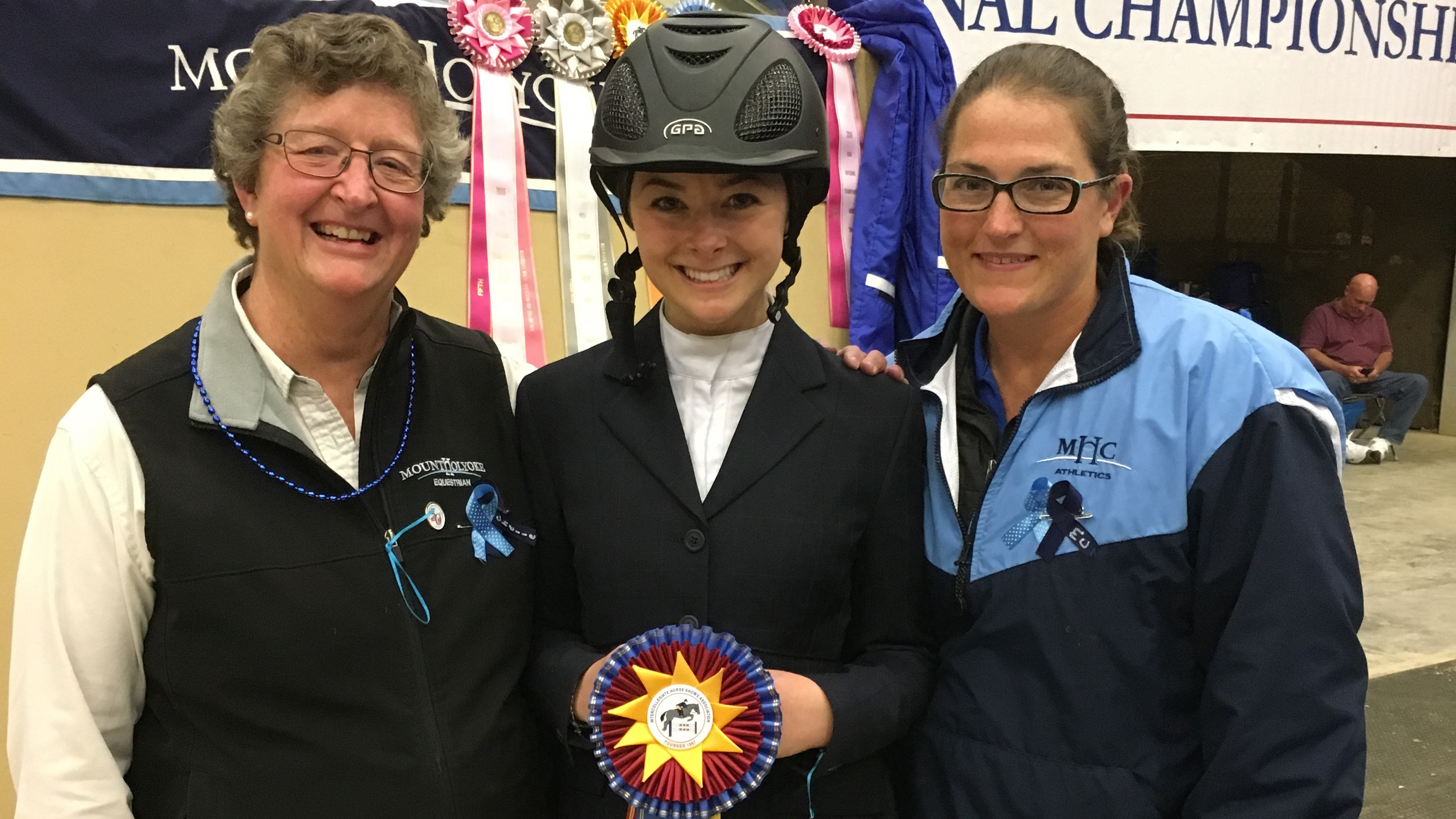 Sabrina Fox, first place in the Collegiate Cup Walk-Trot-Canter class