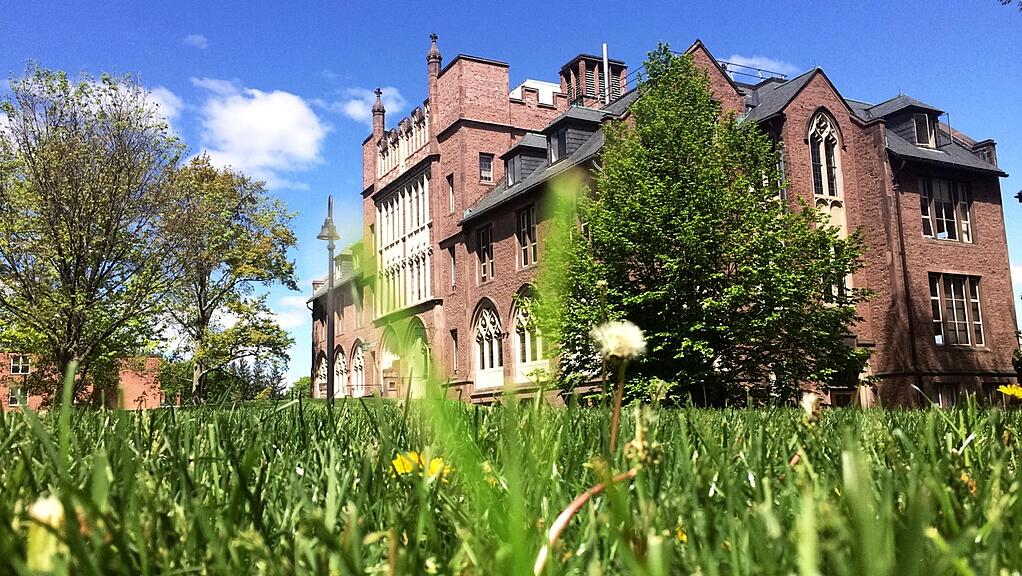 Shattuck Hall in spring