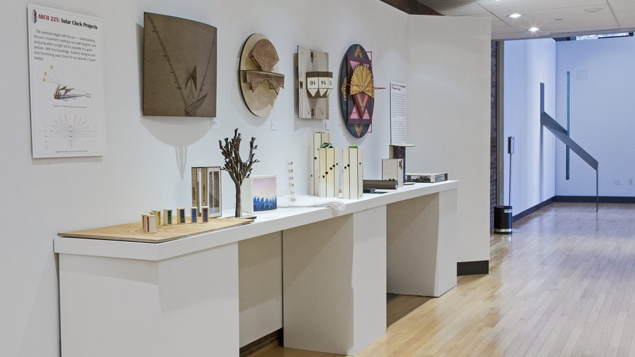 Art Museum's exhibition of work by students in Architecture 225
