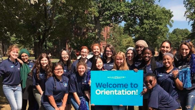 Fall 2017 Orientation Leaders, after many days of leadership trainings, welcoming new students