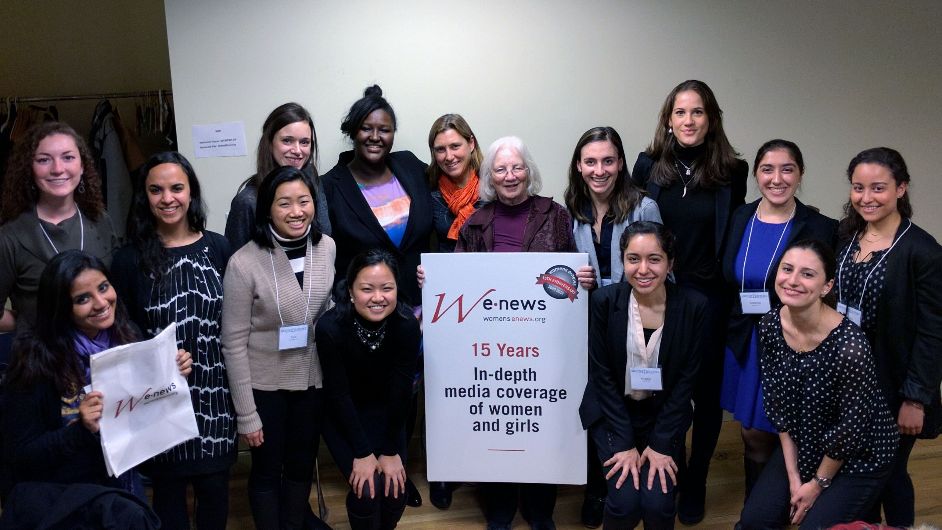 MHC students at Women's eNews for Lynk on the Road, NYC
