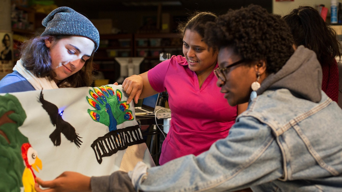 Students at work in the College's Makerspace