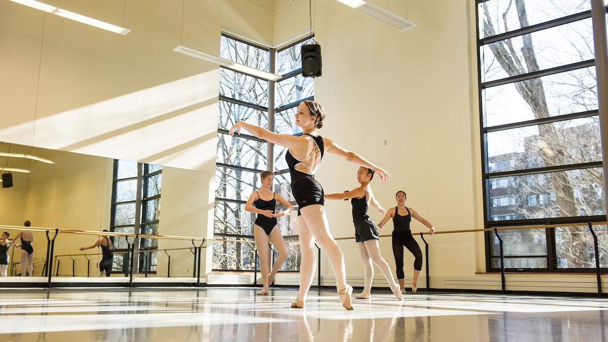 Sunlit studio within the Kendall Sports & Dance Complex