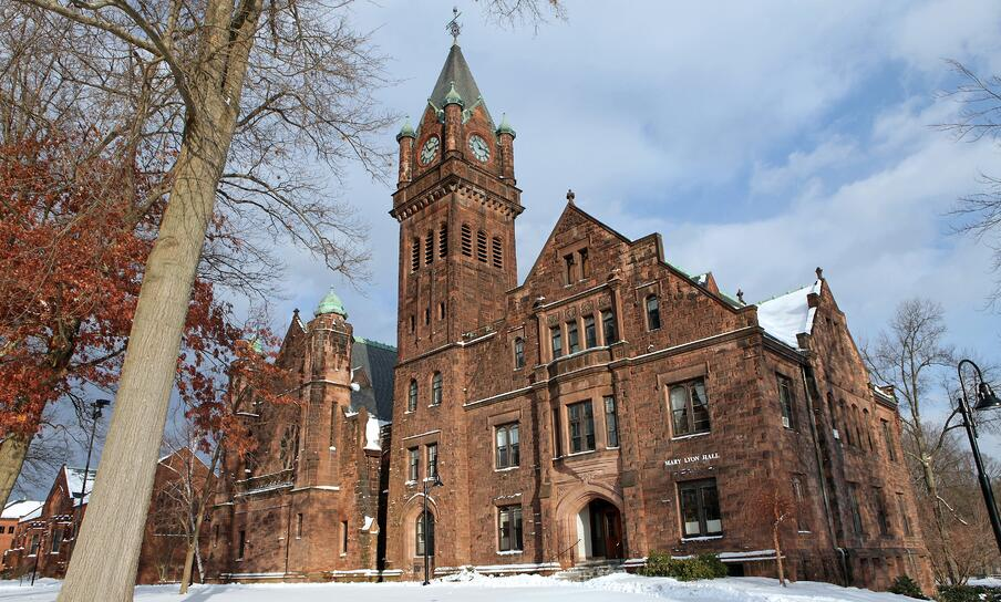 Mary Lyon Hall in winter