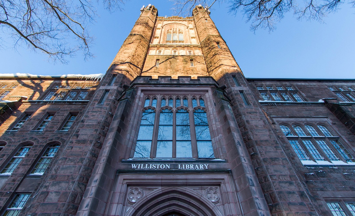 Williston Library, a beacon of Collegiate Gothic style