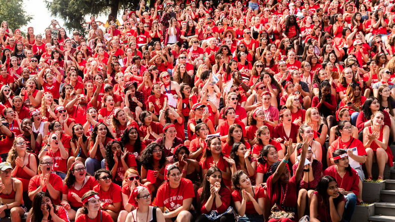 First-year students wore red!