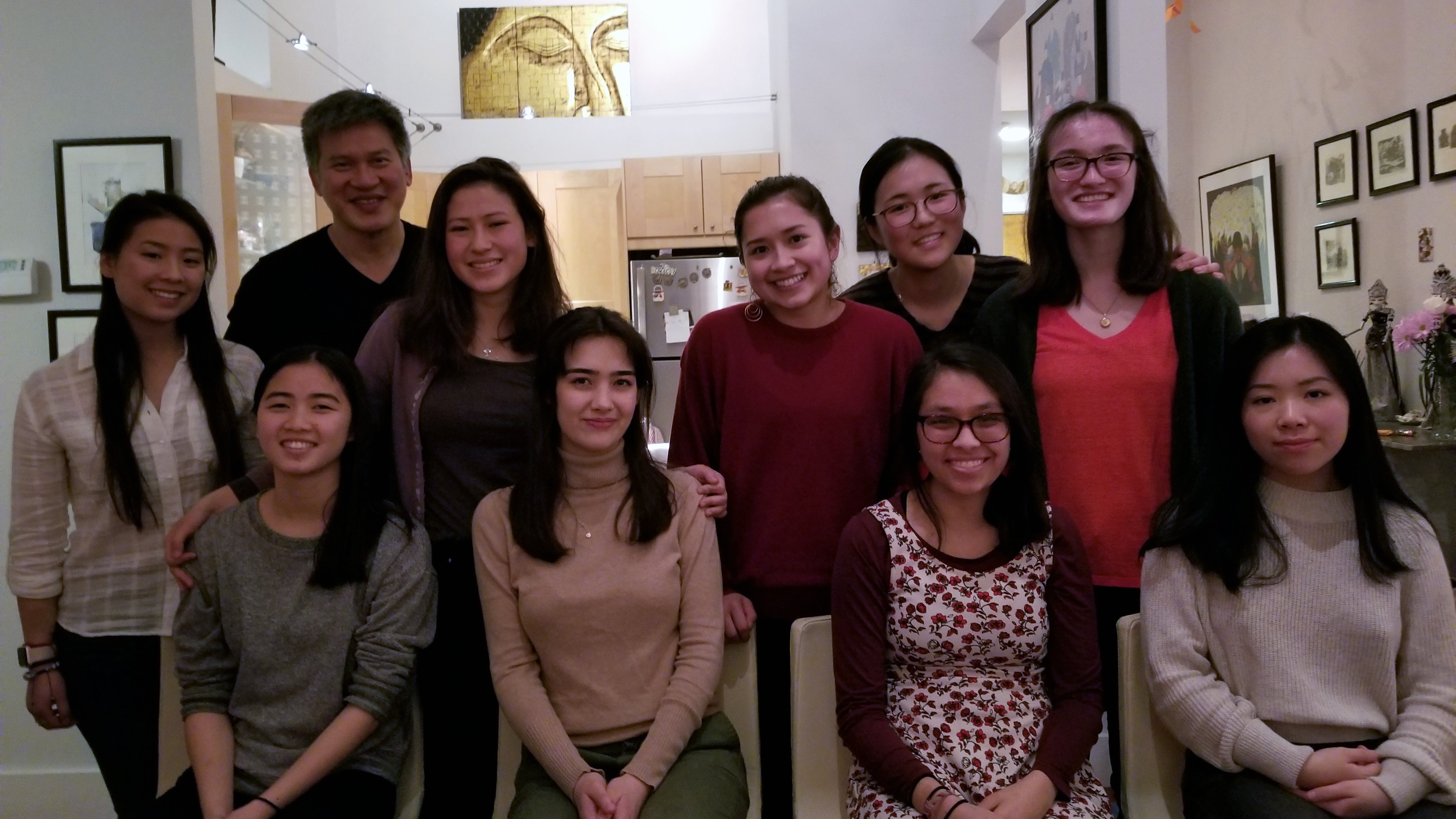 Cayley DeLancey '21 (back row, third from left), along with part of Professor Chu's Chinese Diasporic Communities class