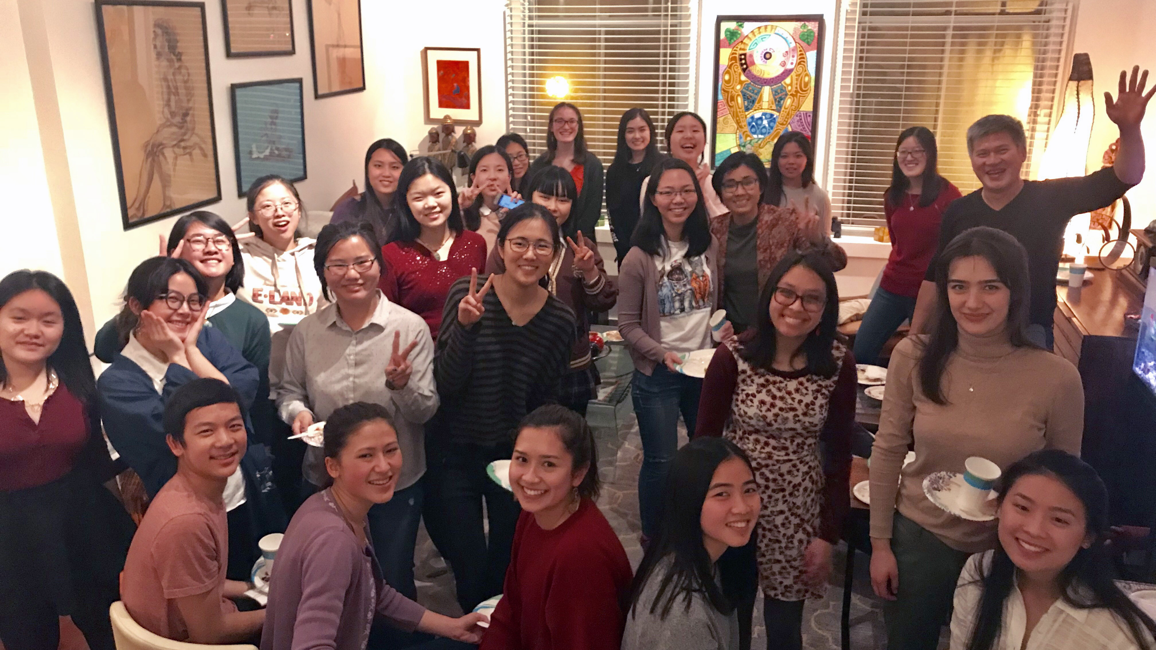Celebrating Lunar New Year with fellow students, past and present, of the First-Year Seminar Chinese Diasporic Communities