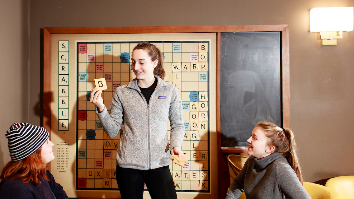 Another form of gaming culture on campus: Scrabble in the Community Center