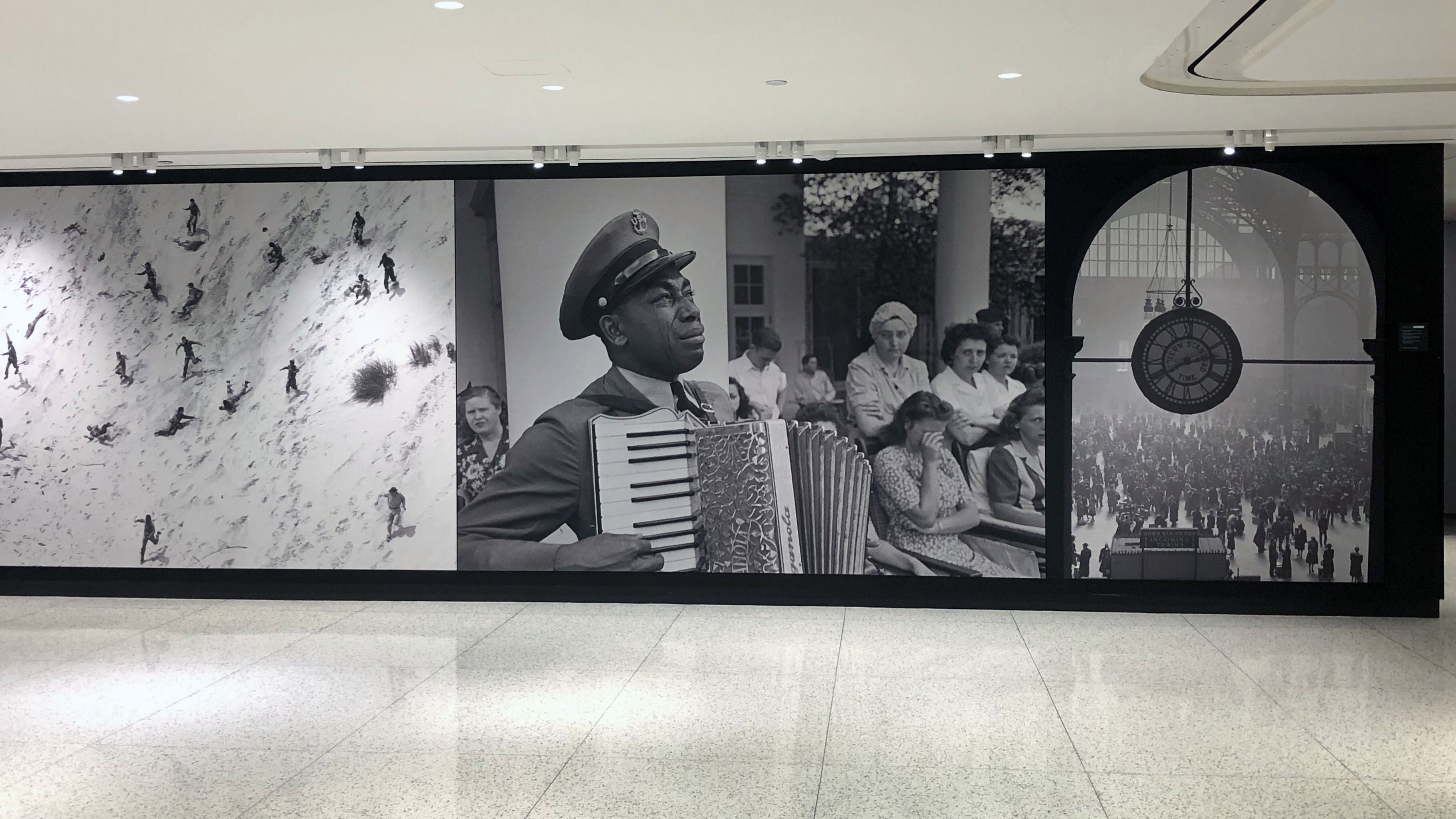 A view of U.S. history: photos line the hallways of the Time magazine headquarters