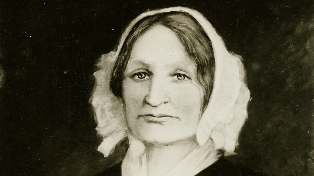 1906 painting of Mary Lyon by Louise Rogers Jewett, courtesy of Mount Holyoke College Archives and Special Collections