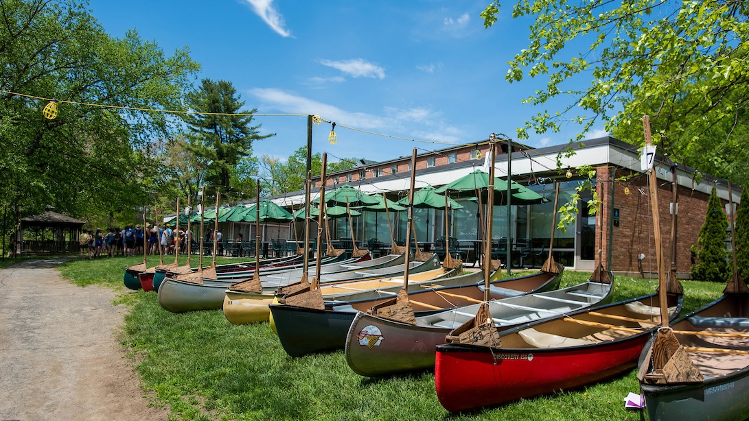 Prospect Hall is also home to the tradition of Canoe Sing