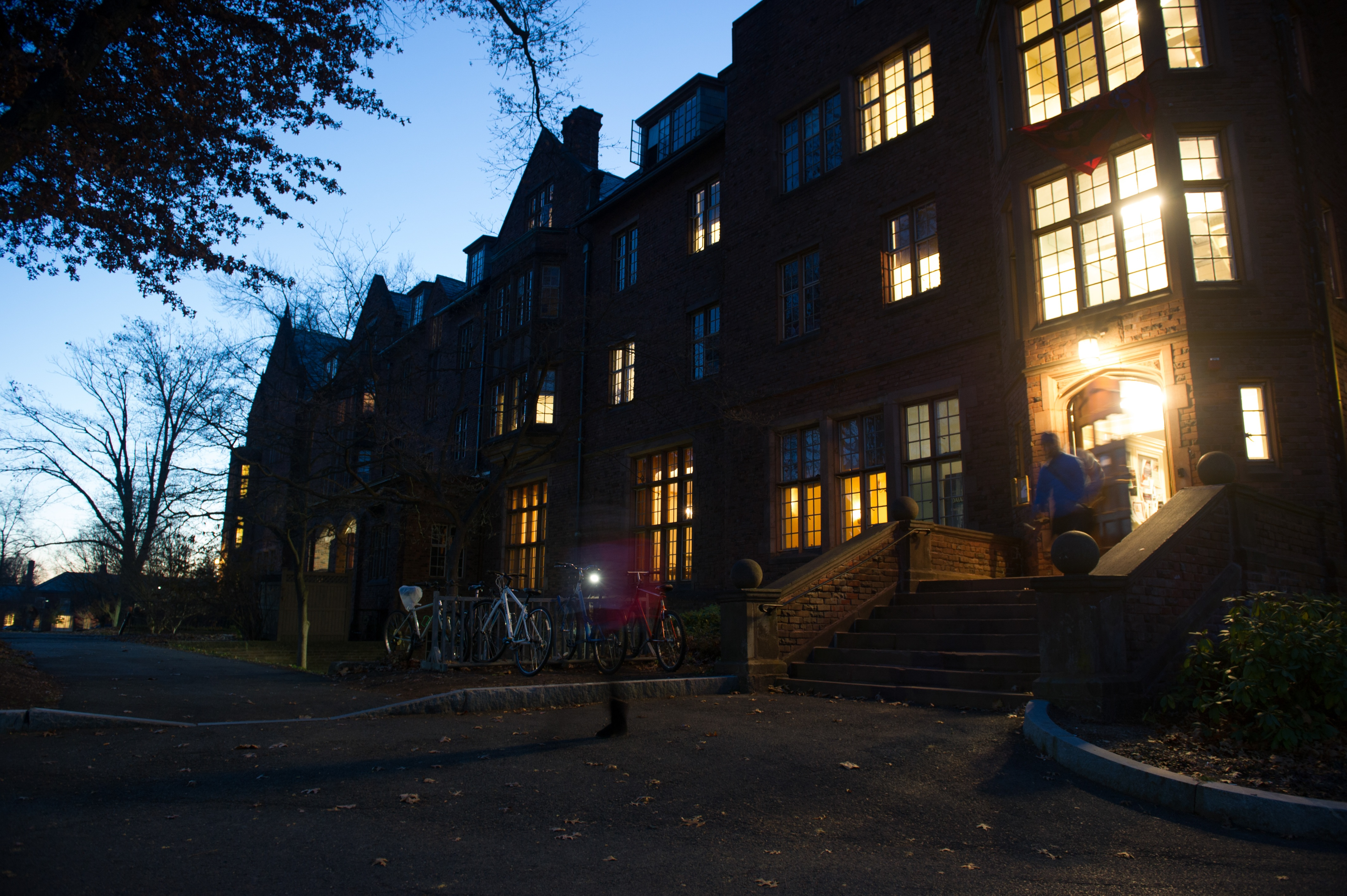 Mount Holyoke campus at dusk