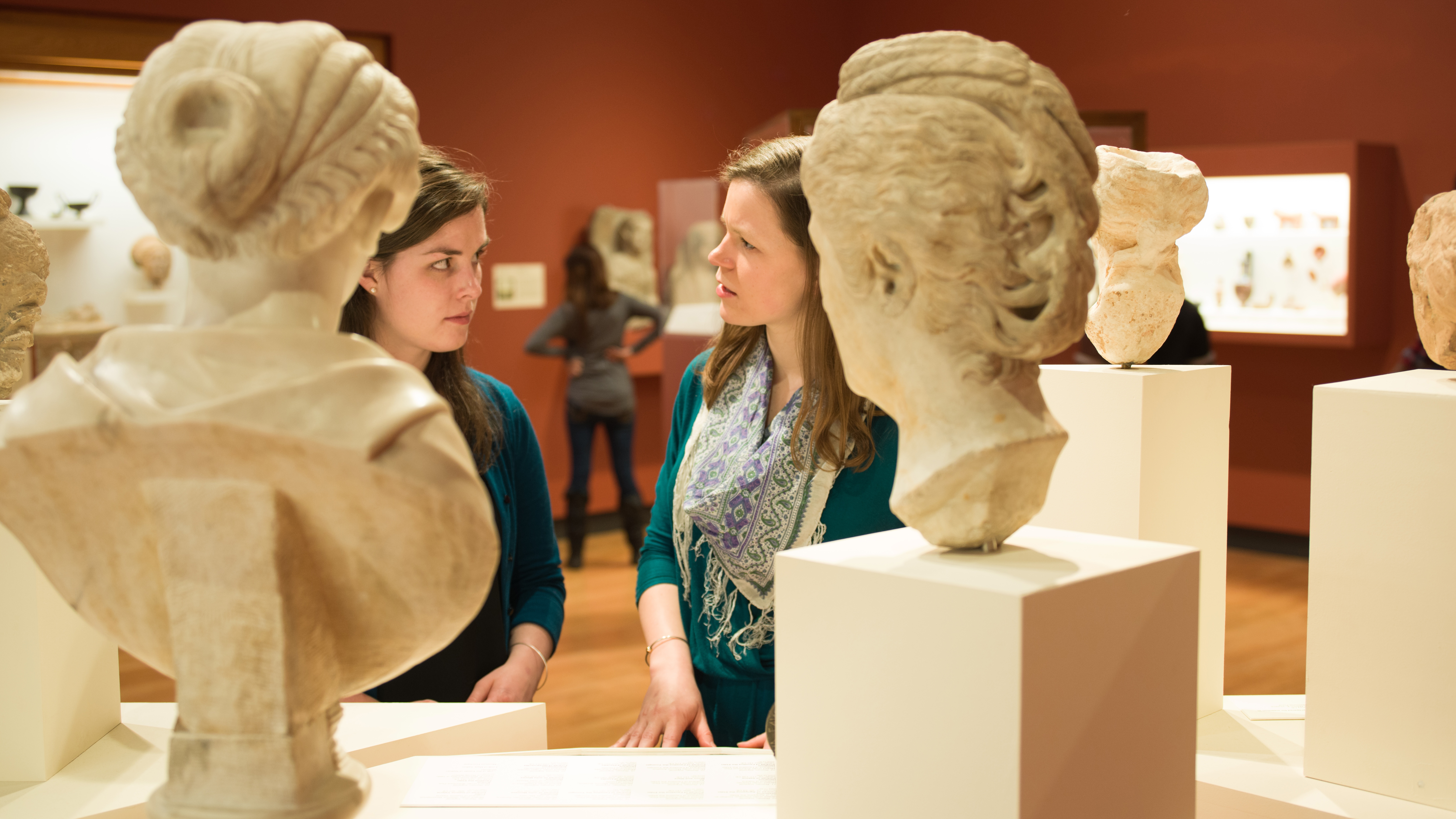 Students at the Mount Holyoke College Art Museum