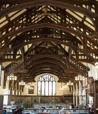 Main reading room of Williston Library