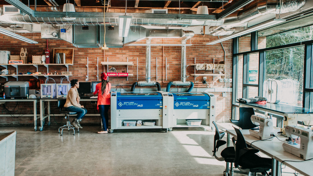 Inside the Fimbel Lab: 3D printers, laser cutters and more