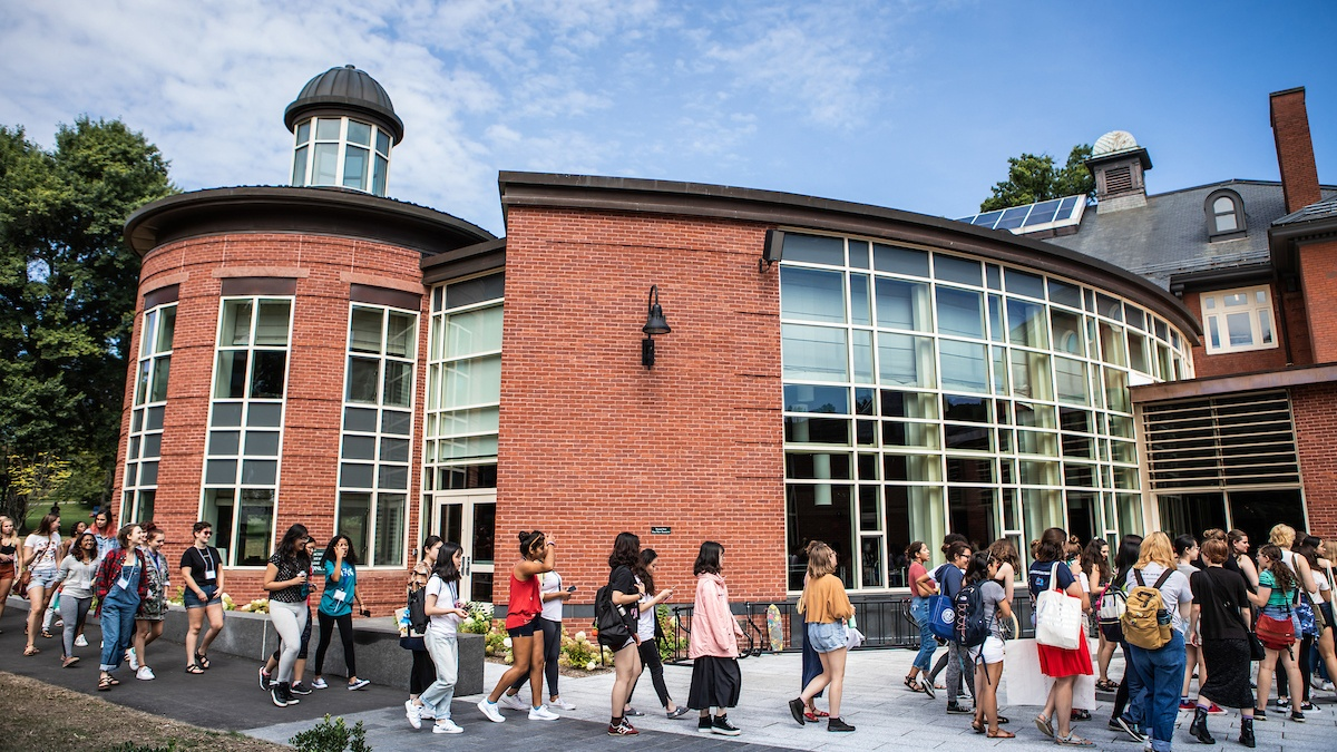 Orientation 2018, by the Community Center and Dining Commons