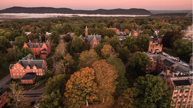 The Mount Holyoke campus in fall