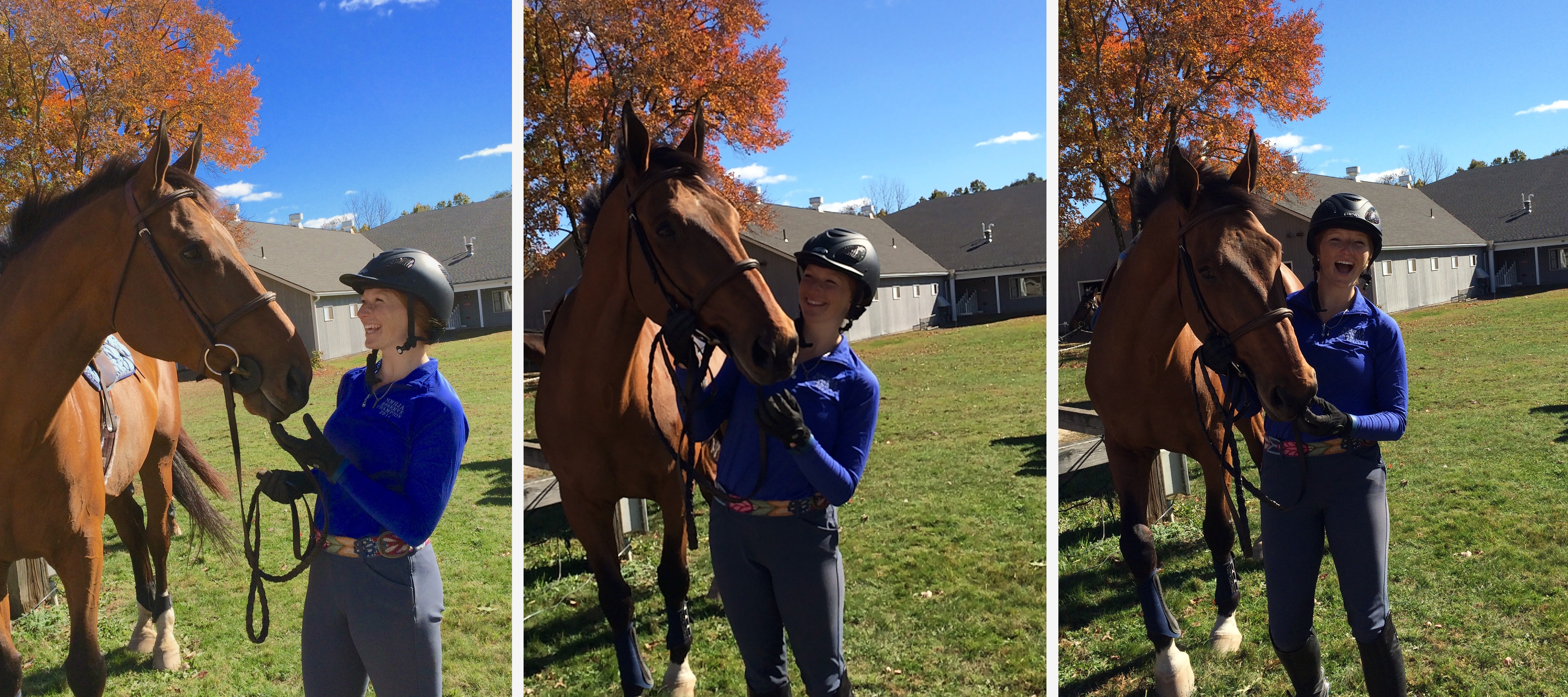 Maddy Skrak '18 having some fun with the much loved Ronaldo