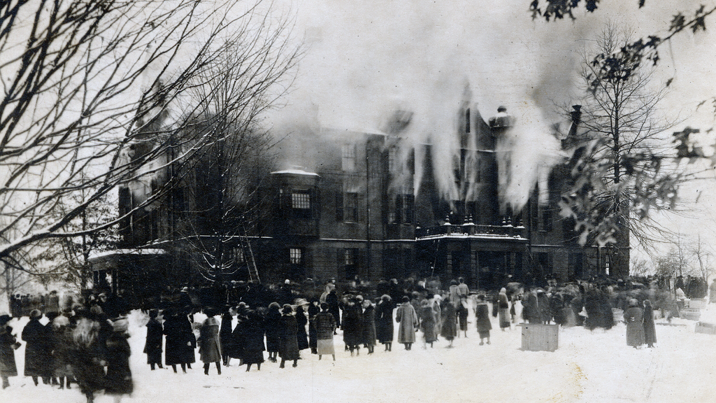 Fire at the Old Rockefeller Hall, December 21, 1922
