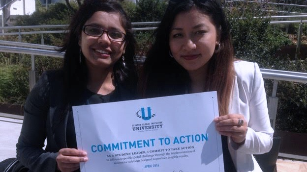 Students at the Clinton Global Initiative University meeting