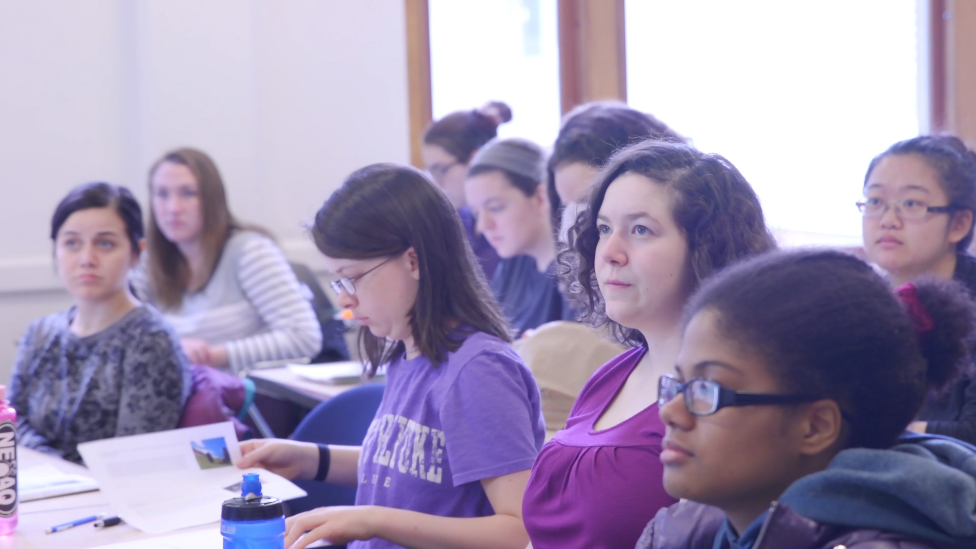 Mount Holyoke students in class