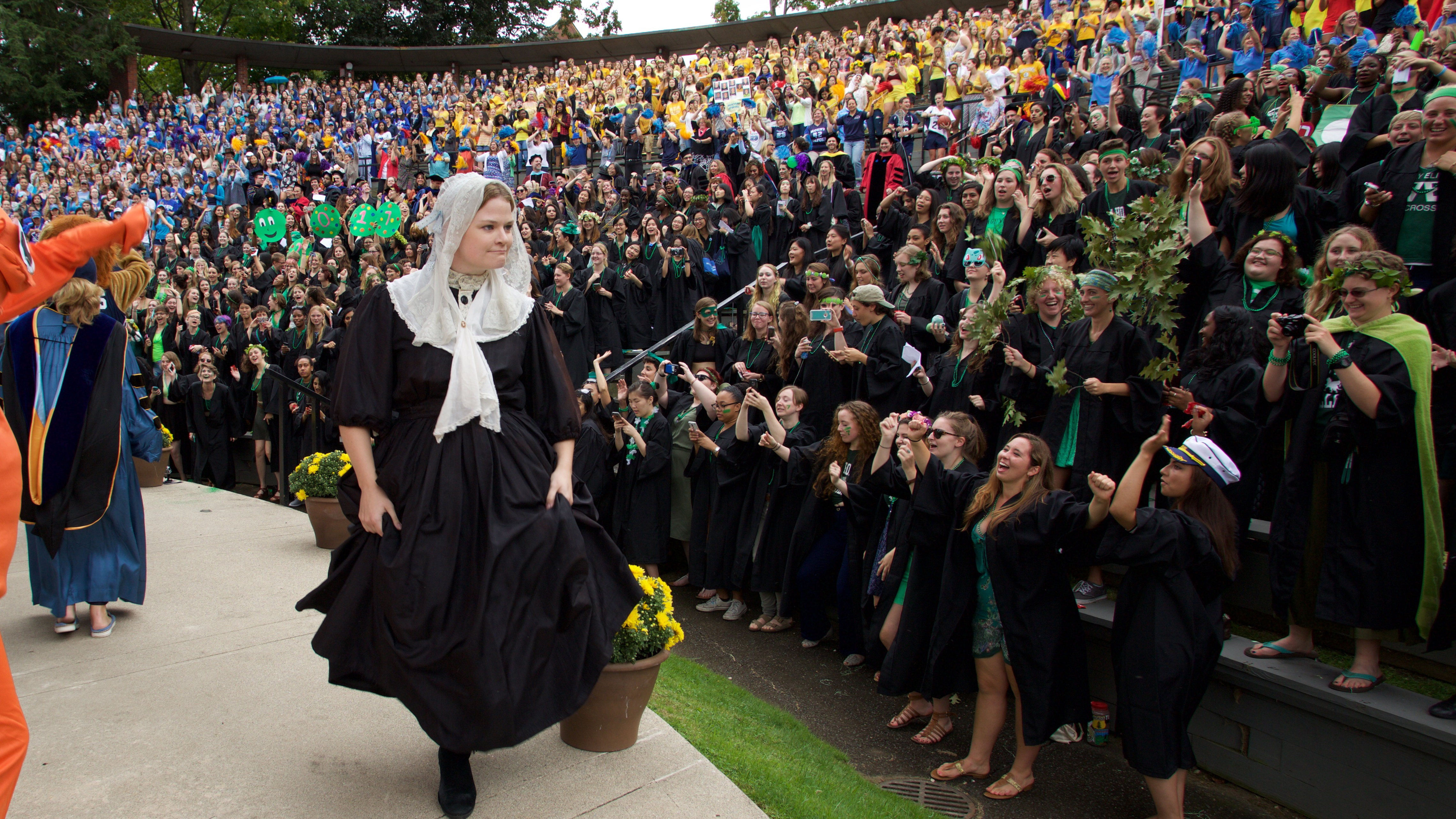 Mary Lyon wows the crowd at Convocation 2016, during the flash mob