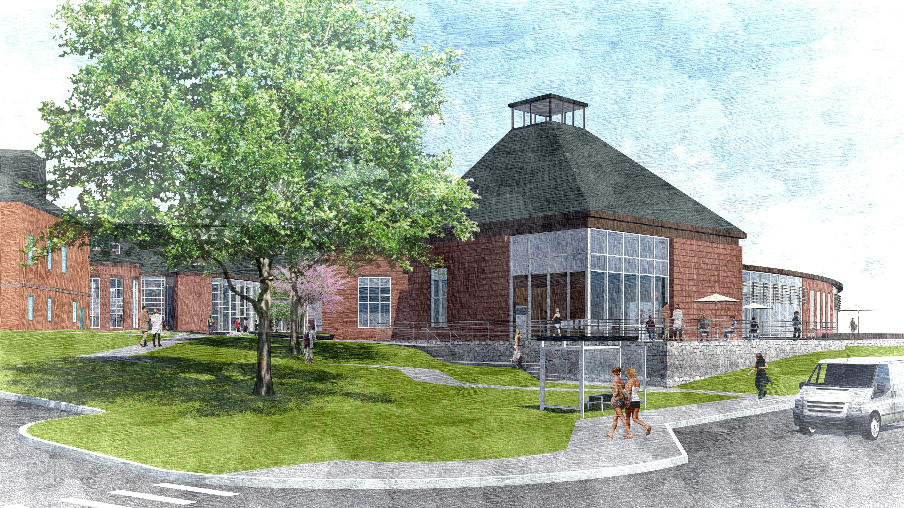 View of the planned Community Center