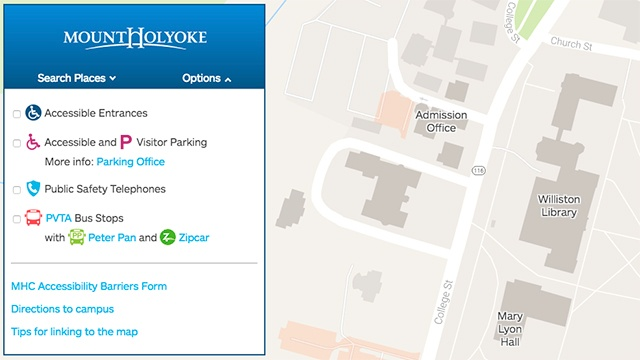 A student-made map to navigate campus