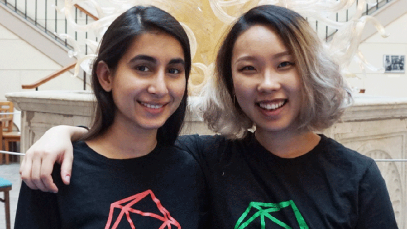 Onji Bae '18 and Hashma Shahid '17: Leading the way for girls in tech