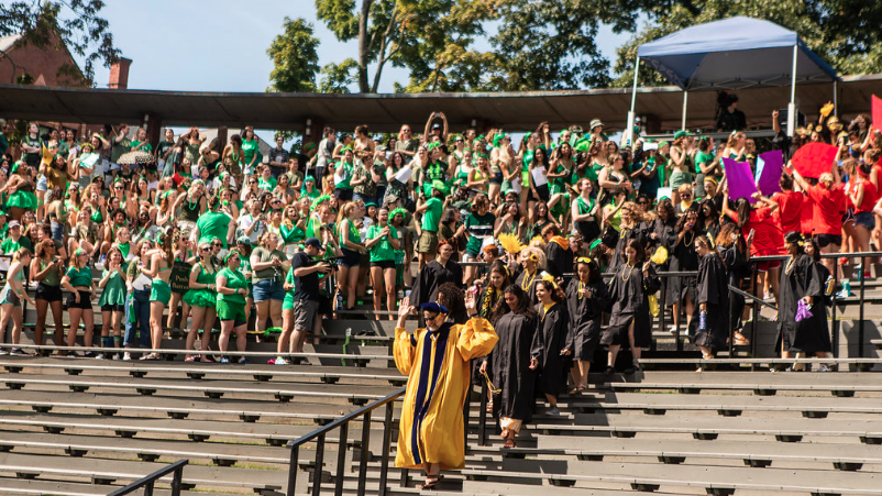 The march of the seniors, Convocation 2018