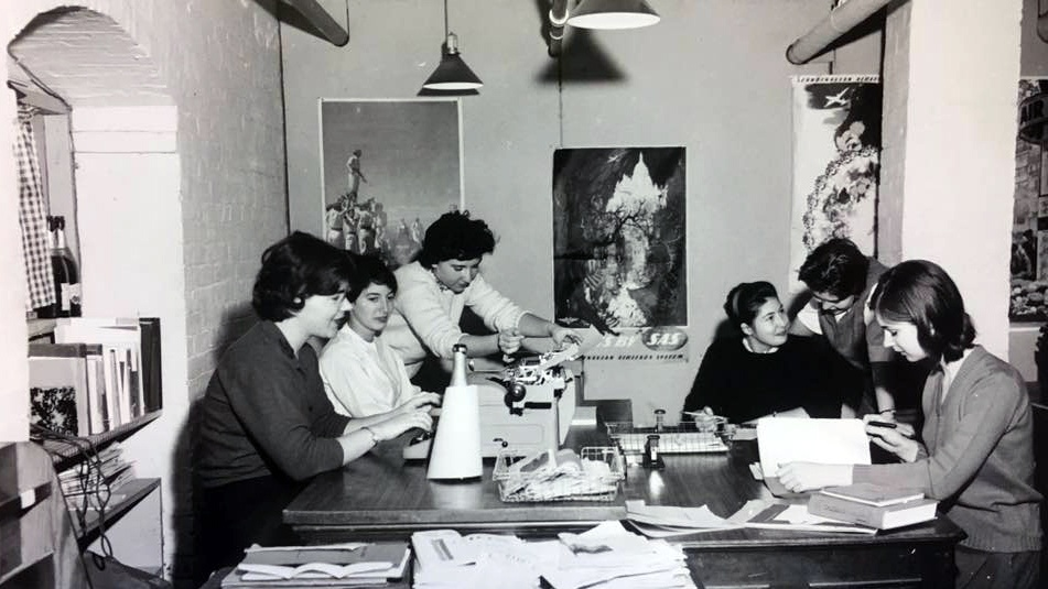 Inside the newsroom, date unknown