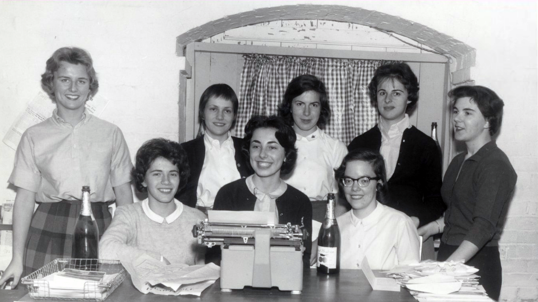 Mount Holyoke News staff, 1961