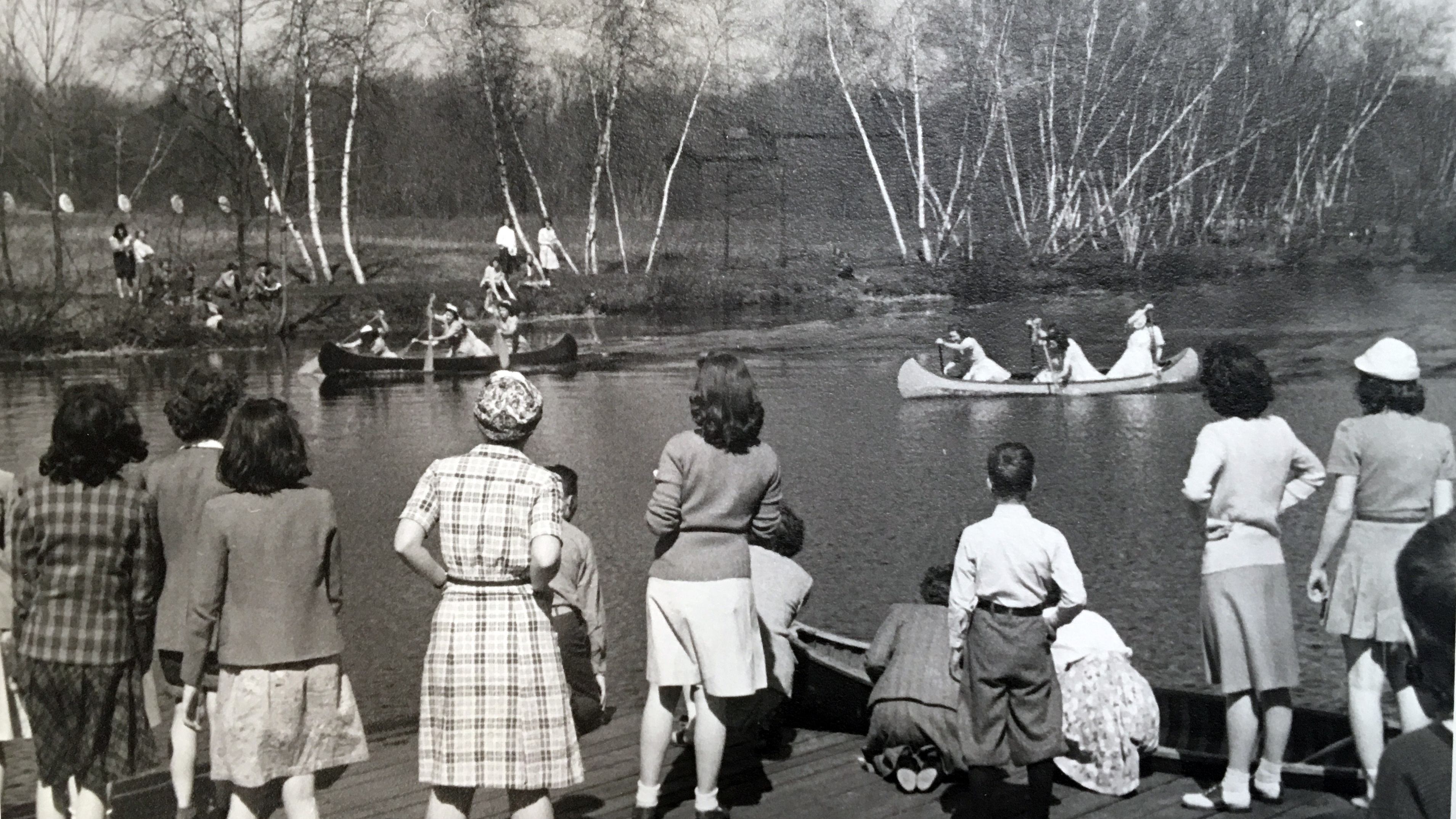 Canoe events during May Day, 1949