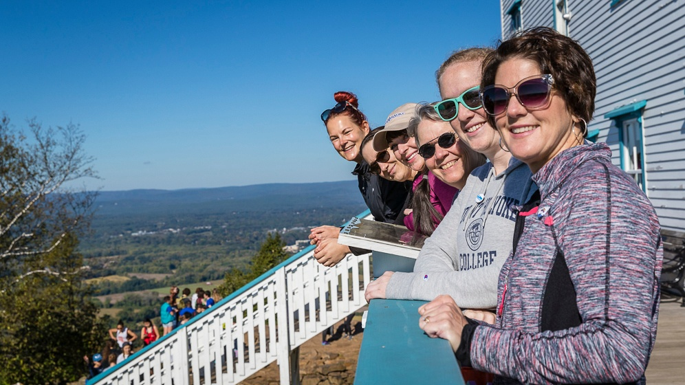 Group photo at the top near the Summit House