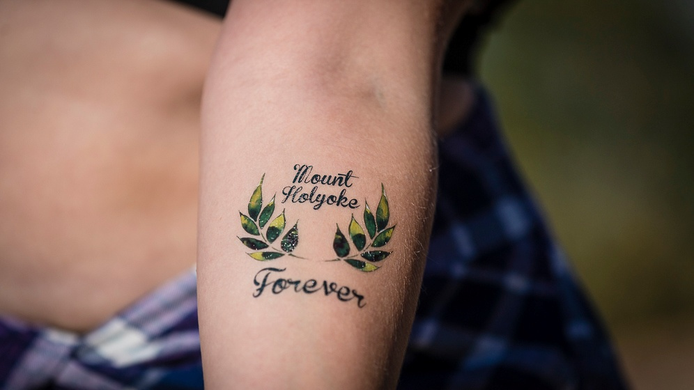 Photo of a Mount Holyoke Forever tattoo