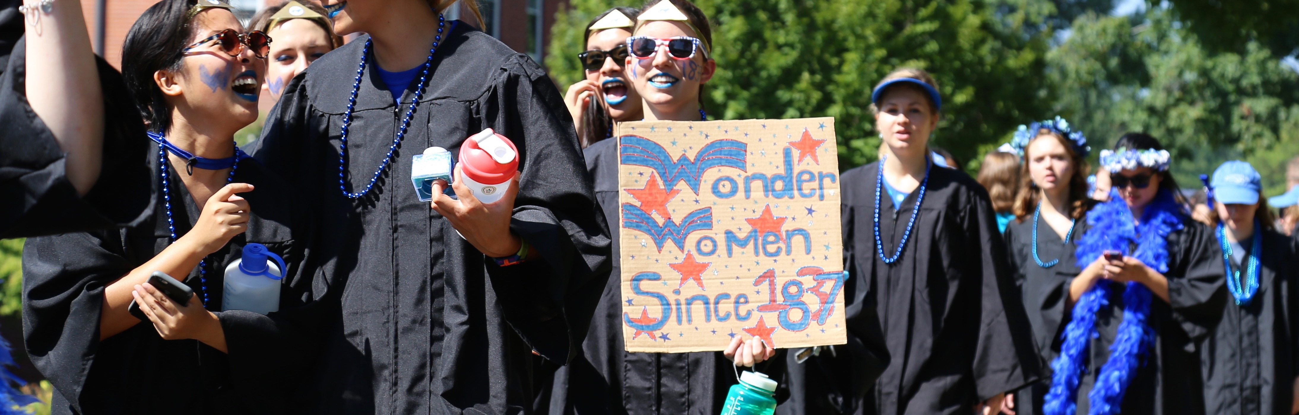 Students at Convocation.